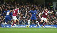 Chelsea's Tammy Abraham and Burnley's James Tarkowski<br /> <br /> Photographer Rob Newell/CameraSport<br /> <br /> The Premier League - Chelsea v Burnley - Saturday 11th January 2020 - Stamford Bridge - London<br /> <br /> World Copyright © 2020 CameraSport. All rights reserved. 43 Linden Ave. Countesthorpe. Leicester. England. LE8 5PG - Tel: +44 (0) 116 277 4147 - admin@camerasport.com - www.camerasport.com