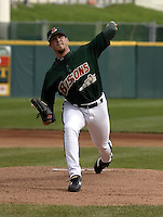 May 3, 2004:  Pitcher Jason Stanford of the Buffalo Bisons, International League (AAA) affiliate of the Cleveland Indians, during a game at Dunn Tire Park in Buffalo, NY.  Photo by:  Mike Janes/Four Seam Images