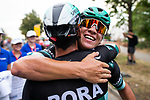Pascal Ackermann (GER) Bora-Hansgrohe wins Stage 1 of the Deutschland Tour 2019, running 167km from Hannover to Halberstadt, Germany. 29th August 2019.<br /> Picture: ASO/Marcel Hilger | Cyclefile<br /> All photos usage must carry mandatory copyright credit (© Cyclefile | ASO/Marcel Hilger)