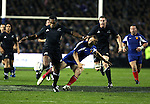 New Zealand wing Sitiveni Sivivatu in action during the first international rugby test at Eden Park, Auckland, New Zealand, Saturday, June 02, 2007. The All Blacks beat France 42-11.