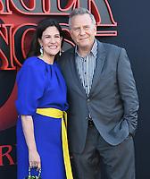 "28 June 2019 - Santa Monica, California - Paul Reiser, Paula Ravets. ""Stranger Things 3"" LA Premiere held at Santa Monica High School. <br /> CAP/ADM/BT<br /> ©BT/ADM/Capital Pictures"