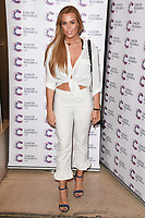 Chloe Meadows<br /> arriving at James Ingham's Jog On To Cancer, in aid of Cancer Research UK at The Roof Gardens in Kensington, London. <br /> <br /> <br /> ©Ash Knotek  D3248  12/04/2017