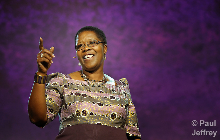 Betty Spiwe Katiyo of Zimbabwe delivers one of three Laity Addresses to the April 25 session of the 2012 United Methodist General Conference in Tampa, Florida.