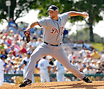 13 March 2007: Detroit Tigers pitcher Bobby Seay in the action against the Los Angeles Dodgers at Holman Stadium in Vero Beach, Florida.<br /> <br /> Mandatory Photo Credit: Ed Wolfstein Photo