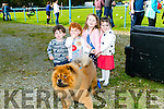 Enjoying the Tralee Rugby Club Supporters  lunch and club fun day on Sunday. were Kieran Murphy, Ellie Madden, Caoimhe Madden and Kate Murphy with Bear the dog