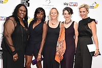 Jennifer Joseph, Jade Anouka, Phyllida Lloyd, Harriet Walters and Kate Pakenham<br /> at the South Bank Sky Arts Awards 2017, Savoy Hotel, London. <br /> <br /> <br /> &copy;Ash Knotek  D3288  09/07/2017
