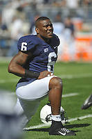 15 September 2012:  Penn State LB Gerald Hodges (6)..The Penn State Nittany Lions defeated the Navy Midshipmen 34-7 at Beaver Stadium in State College, PA.