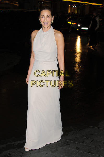 Rachel Stevens.The British Fashion Awards 2012, Savoy Hotel, The Strand, London, England..November 27th, 2012.full length white cream beige dress sleeveless .CAP/CJ.©Chris Joseph/Capital Pictures.