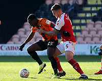 Josh Walker of Barnet and Ashley Eastham of Fleetwood Town during Barnet vs Fleetwood Town, Emirates FA Cup Football at the Hive Stadium on 10th November 2019