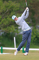 Eugene Smith (Ardee) on the 1st tee during the 3rd round of the East of Ireland Amateur Open Championship 2013 Co Louth Golf club 3/6/13<br /> Picture:  Thos Caffrey / www.golffile.ie