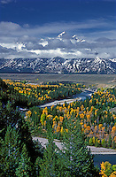 749450179 the snake river fall colored aspens and cloud covered teton range from the snake river overlook in grand tetons national park wyoming