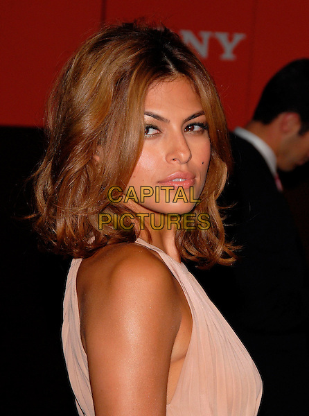 EVA MENDES.Attend the Sony Global Conference Party held on Rodeo Drive in Beverly Hills, California, USA,.September 29th 2006..portrait headshot cream beige dress .Ref: DVS.www.capitalpictures.com.sales@capitalpictures.com.©Debbie VanStory/Capital Pictures