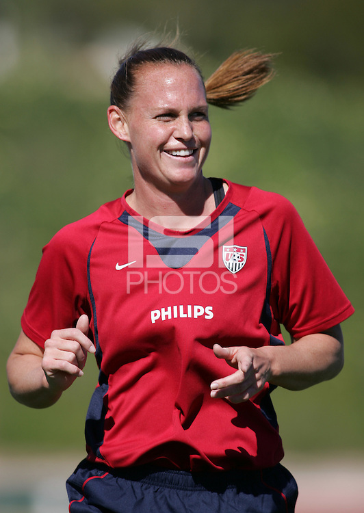 MAR 11, 2006: Quarteira, Portugal:  USWNT defender Christie Rampone