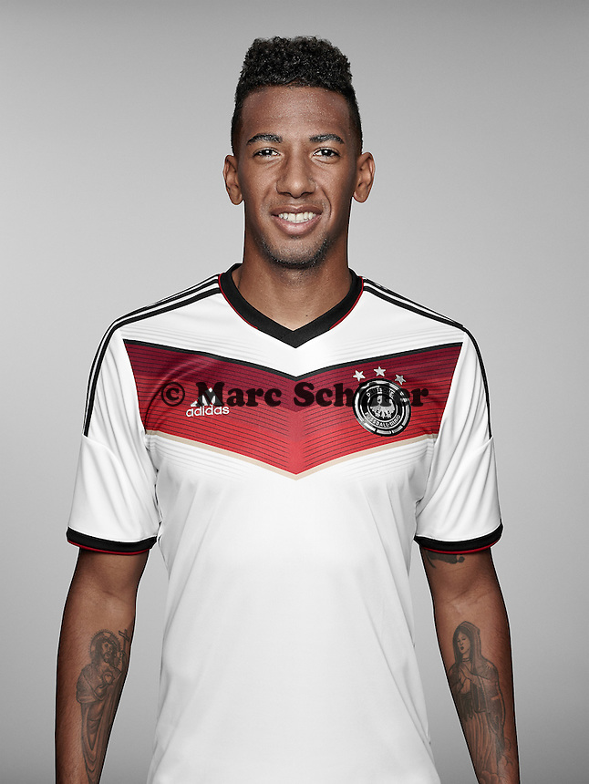 ST. MARTIN IN PASSEIER, ITALY - MAY 24: In this handout image provided by German Football Association (DFB) Jerome Boateng of team Germany poses for a picture on May 24, 2014 in St. Martin in Passeier, Italy.  (Photo by Handout/DFB via Bongarts/Getty Images)  *** Local Caption *** Jerome Boateng