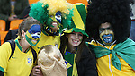 20 JUN 2010: Brazil fans. The Brazil National Team defeated the C'ote d'Ivoire National Team 3-1 at Soccer City Stadium in Johannesburg, South Africa in a 2010 FIFA World Cup Group G match.