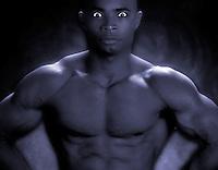 Male African American body builder. bodybuilder, muscles, strength, man, men, male, muscular.