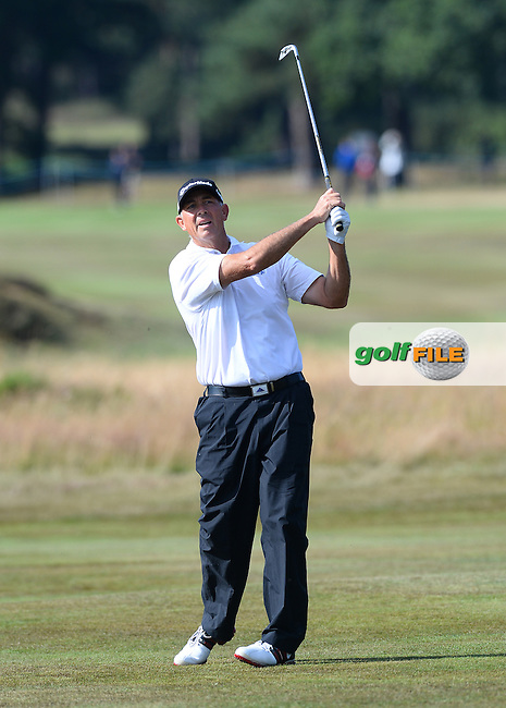 Tom Lehman of USA during the Second Round of The Senior Open at Sunningdale Golf Club, Sunningdale, England. Picture: Golffile | Richard Martin-Roberts<br /> All photo usage must carry mandatory copyright credit (&copy; Golffile | Richard Martin- Roberts)