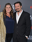 "Jaames Vanderbilt - writer producer and wife Amber Vanderbielt 099 arrives at the LA Premiere Of Netflix's ""Murder Mystery"" at Regency Village Theatre on June 10, 2019 in Westwood, California"