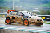 14th April 2018, Circuit de Barcelona-Catalunya, Barcelona, Spain; FIA World Rallycross Championship; Guerlain Chicherit of the GC Kompetition Team in action during the very wet Q2