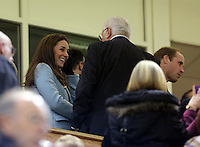 Pictured: Kate Middleton (L) on the stand. Saturday 08 November 2014<br />
