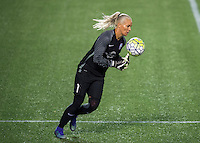 Orlando, FL - Thursday June 23, 2016: Ashlyn Harris during a regular season National Women's Soccer League (NWSL) match between the Orlando Pride and the Houston Dash at Camping World Stadium.