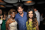 Delaina Dixon host of The Gossip Table poses with Bold and The Beautiful Ricky Paull Goldin (A/W, AMC, Y&R) and Gretta Monahan at The Launch Party to celebrate our new VH1 morning show beginning June 3 - party was on May 30, 2013 at Catch Roof, New York City, New York. (Photo by Sue Coflin/Max Photos)