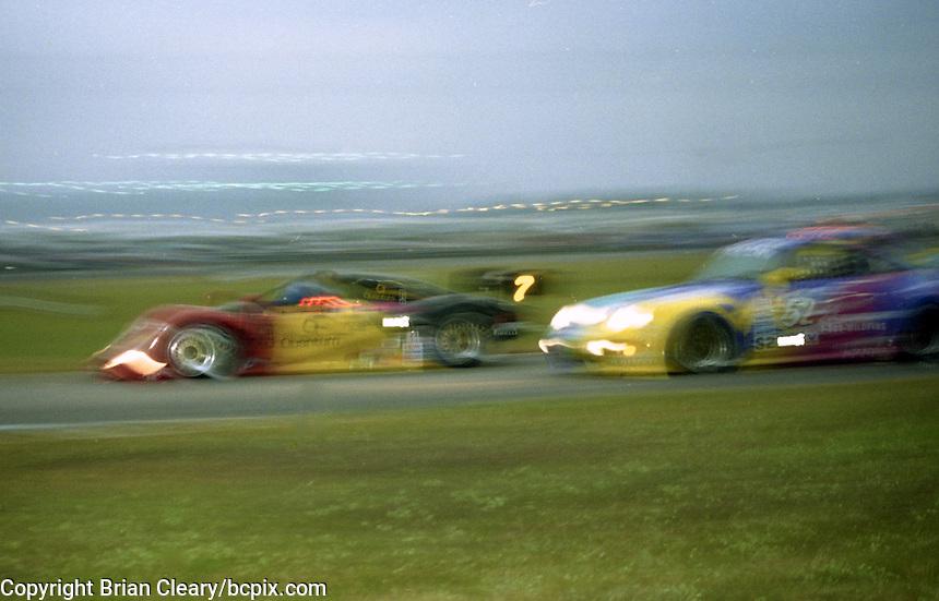 Action in the 24 Hours of Daytona, IMSA race, Daytona International Speedway, Daytona Beach , FL, February 4, 1996.  (Photo by Brian Cleary/www.bcpix.com)