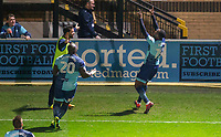Myles Weston (right) of Wycombe Wanderers celebrates his goal during the Sky Bet League 2 match between Wycombe Wanderers and Plymouth Argyle at Adams Park, High Wycombe, England on 14 March 2017. Photo by Andy Rowland / PRiME Media Images.
