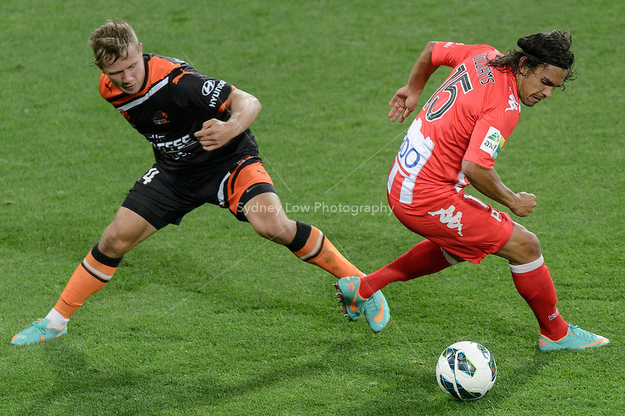 MELBOURNE - 9 NOV: David WILLIAMS of the Heart controls the ball in the round six A-League match between the Melbourne Heart and Brisbane Roar at AAMI Park on 9 November 2012. (Photo Sydney Low/syd-low.com/Melbourne Heart)