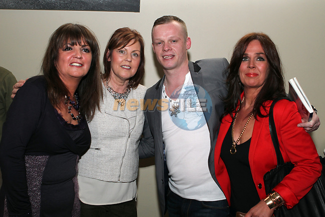 Bernie Doyle, Jackie Rice and Brenda Sullivan with Robbie Andrews at the Launch of Robbie's  Book in the D Hotel...(Photo credit should read Jenny Matthews/NEWSFILE)...