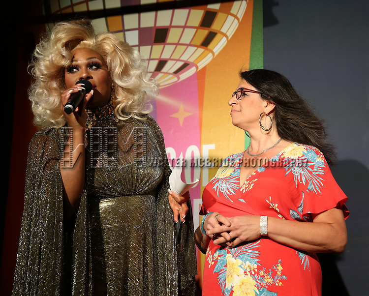 Peppermint and Wendy Stark during the GLOW: 50 Years of Callen-Lorde at Union Park on May 31, 2019  in New York City.