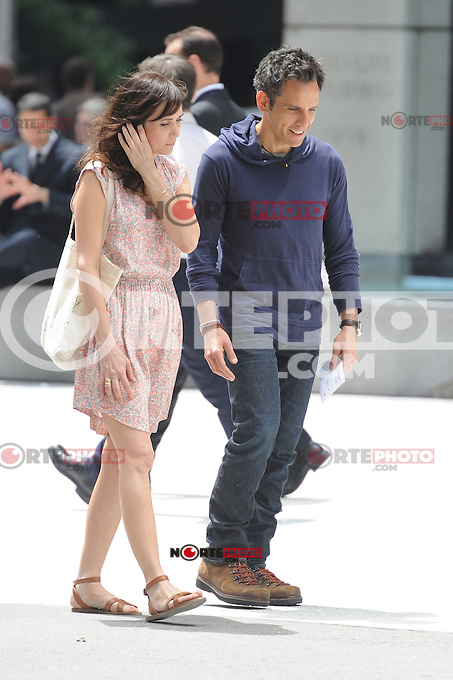 """Ben Stiller and Kristen Wiig on the set of """"The Secret Life of Walter Mitty"""" in New York City. June 3, 2012. ©mpi15/MediaPunch Inc."""