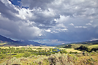 Storm Clouds over the South Fork of the Snake River at Swan Valley Idaho