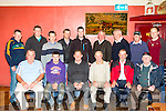 Keep it straight<br /> --------------------<br /> Officers &amp; competitors of the Kerry Ploughing Association gathered in McElligotts bar, Abbeydorney last Thursday night ahead of the National Ploughing Championships in Co Laois on Sept 22nd- 24th next. Seated L-R Tom O'Mahony,P.R.O  KPA, Jamie Donegal, Brendan Blackwell, Sec KPA, Thomas Healy, Chairman KPA, Thomas Boyle &amp; Jim Lawlor. Back L-R Dereck O'Driscoll, Michael P Donegal, Donal tydings, Patrick Boyle, Colin Dineen, Mike Fitzmaurice, Health &amp; Safety KPA, Mike McCarthy, Treasurer KPA, Aeneas Horan &amp; Tommy McCarthy
