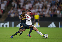 Ben Davies of Tottenham Hotspur & Thomas Lemar of Monaco in action during the UEFA Champions League Group stage match between Tottenham Hotspur and Monaco at White Hart Lane, London, England on 14 September 2016. Photo by Andy Rowland.