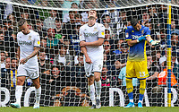 Leeds United players react after conceding an equalising goal<br /> <br /> Photographer Alex Dodd/CameraSport<br /> <br /> The EFL Sky Bet Championship - Leeds United v Nottingham Forest - Saturday 10th August 2019 - Elland Road - Leeds<br /> <br /> World Copyright © 2019 CameraSport. All rights reserved. 43 Linden Ave. Countesthorpe. Leicester. England. LE8 5PG - Tel: +44 (0) 116 277 4147 - admin@camerasport.com - www.camerasport.com