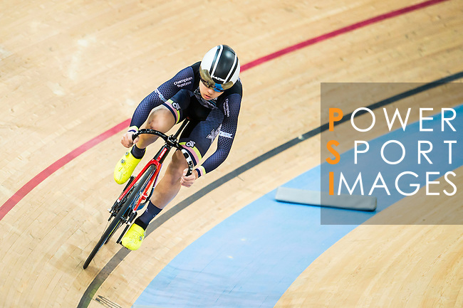 Cyril Cheng of X SPEED in action during the Youth Qualifying (200M Flying Start) at the Hong Kong Track Cycling Race 2017 Series 5 on 18 February 2017 at the Hong Kong Velodrome in Hong Kong, China. Photo by Marcio Rodrigo Machado / Power Sport Images
