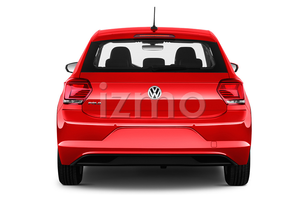 Straight rear view of a 2019 Volkswagen Beetle S 5 Door Hatchback stock images