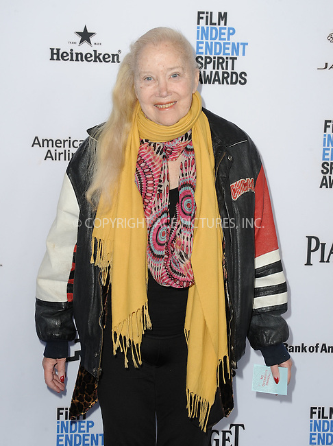 WWW.ACEPIXS.COM<br /> <br /> January 9 2016, New York City<br /> <br /> Sally Kirkland arriving at the 2016 Film Independent Filmmaker Grant and Spirit Award Nominees Brunch at BOA Steakhouse on January 9, 2016 in West Hollywood, California. <br /> <br /> By Line: Peter West/ACE Pictures<br /> <br /> <br /> ACE Pictures, Inc.<br /> tel: 646 769 0430<br /> Email: info@acepixs.com<br /> www.acepixs.com