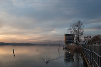 Varese. Lombardia. ITALY. General View. Varese Rowing Club. [Canottieri Varese] Province of Varese.  Sunset. Finishing Tower<br /> <br /> Monday  02/01/2017<br /> <br /> [Mandatory Credit; Peter Spurrier/Intersport-images]<br /> <br /> <br /> LEICA CAMERA AG - LEICA Q (Typ 116) - 1/200 - f4