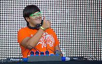 MADRI, ESPANHA, 07 DE JULHO 2012 - ROCK IN RIO MADRI - O DJ Wally Lopes durante apresentacao no Rock In Rio Madri, na noite de ontem sexta-feira, 06. (FOTO: ALFAQUI / BRAZIL PHOTO PRESS).