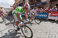 "Joaquim ""Purito"" RodrÌguez during the departure  of the last step of the Vuelta de EspaÒa 2012 at Cercedilla"