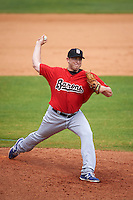 Birmingham Barons pitcher Blake Smith (22) delivers a pitch during a game against the Biloxi Shuckers on May 24, 2015 at Joe Davis Stadium in Huntsville, Alabama.  Birmingham defeated Biloxi 6-4 as the Shuckers are playing all games on the road, or neutral sites like their former home in Huntsville, until the teams new stadium is completed.  (Mike Janes/Four Seam Images)