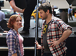 Daisy Eagan and Alex Brightman during the rehearsal for the 8th Annual Broadway Salutes Presentation at Shubert Alley on September 20, 2016 in New York City.