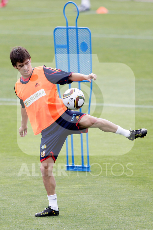 MADRID (25/05/09).- The Spanish Soccer national training session.  David Silva...PHOTO: Cesar Cebolla / ALFAQUI
