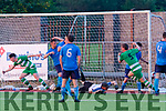 Killarney Celtic celebrate the goal by Gary Keane that went straight in from his corner kick to win the Denny premier A final against Dingle last Friday night at the KDL, Tralee.