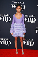 HOLLYWOOD, CA - FEBRUARY 13; Dominique Tipper at The Call Of The Wild World Premiere on February 13, 2020 at El Capitan Theater in Hollywood, California. Credit: Tony Forte/MediaPunch
