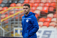 16th November 2019; Tannadice Park, Dundee, Scotland; Scottish Championship Football, Dundee United versus Queen of the South; Darren Lyon of Queen of the South inspects the pitch before the match - Editorial Use