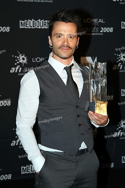 Damian Walshe-Howling wins Best Supporting Actor in a Television Drama in Underbelly at the 2008 AFI Awards from the Princess Theatre Melbourne Saturday 6th December 2008