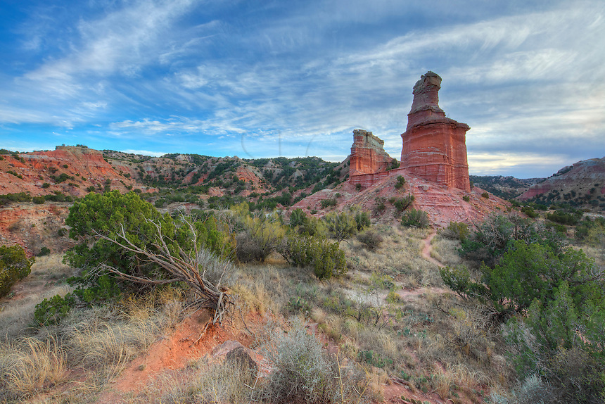 On a beautiful evening in November, the Lighthouse, a famous landmark in Palo Duro Canyon, reaches into the cool blue skies. As the 2nd largest canyon in North America, Palo Duro resides in the Texas Panhandle. It provides endless miles of hiking and biking, and there is always a new place to explore.
